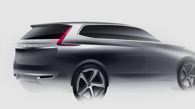 Volvo's design sketches for the 2016 Volvo XC90