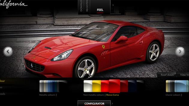 Ferrari California configurator