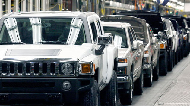 New vehicles rolling off the assembly line