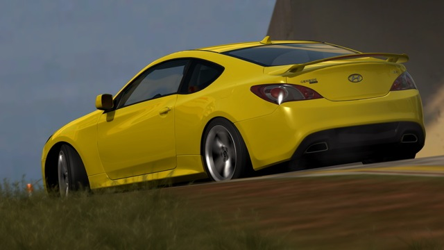 Hyundai Genesis Coupe Goes Digital For Forza Motorsport 3