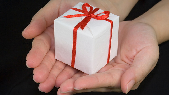 Wrapped gift  Image: Flickr user asenat29