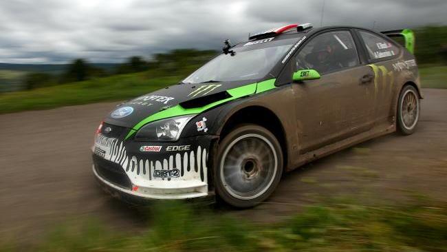 Ken Block tarmac testing Ford Focus WRC