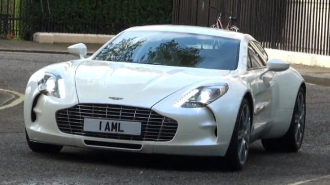 The Aston Martin One-77 on the streets of London