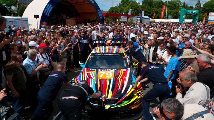 Jeff Koons BMW M3 GT2 Art Car on track at Le Mans