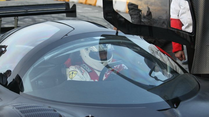 Glickenhaus Ferrari P4/5 Competizione Hits The Track