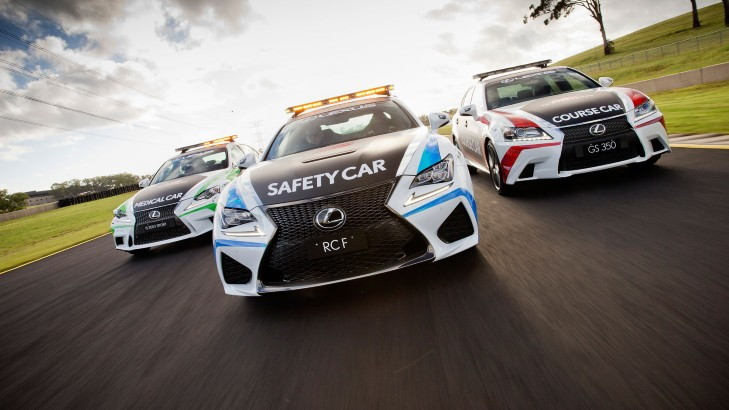 Lexus RC F chosen as V8 Supercars safety car