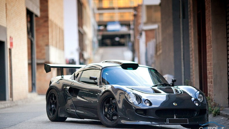 2001 Lotus Exige with carbon fiber body and turbocharged Audi engine