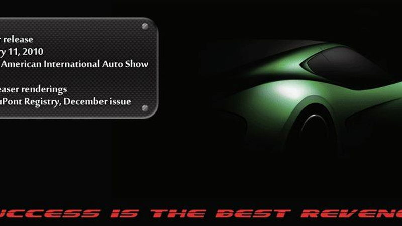Revenge Verde supercar teaser