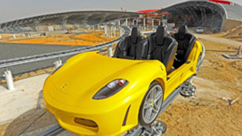 Ferrari World roller coaster preview