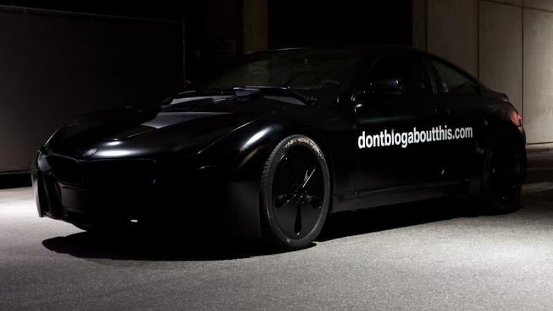 BMW's 'don't blog about this' teaser