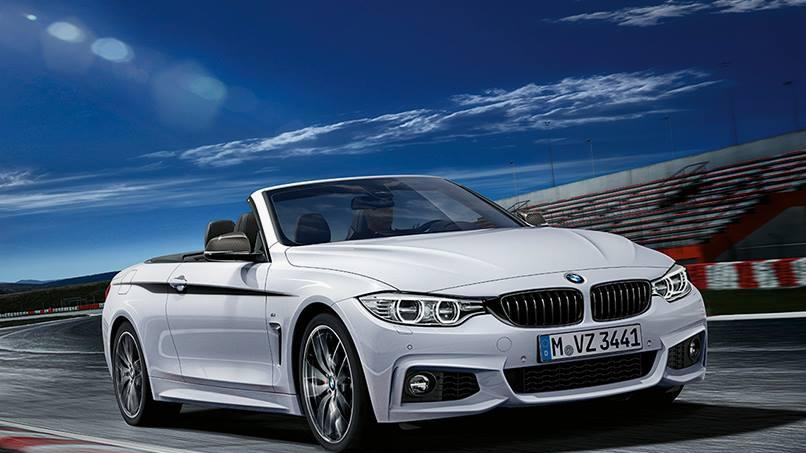 2014 BMW 4 Series convertible fitted with M Performance accessories
