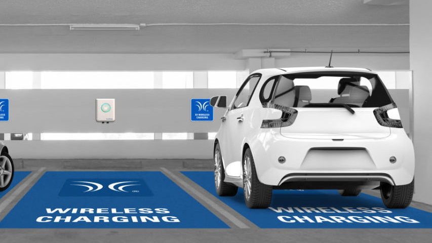 Wireless charging in parking building  -  WiTricity