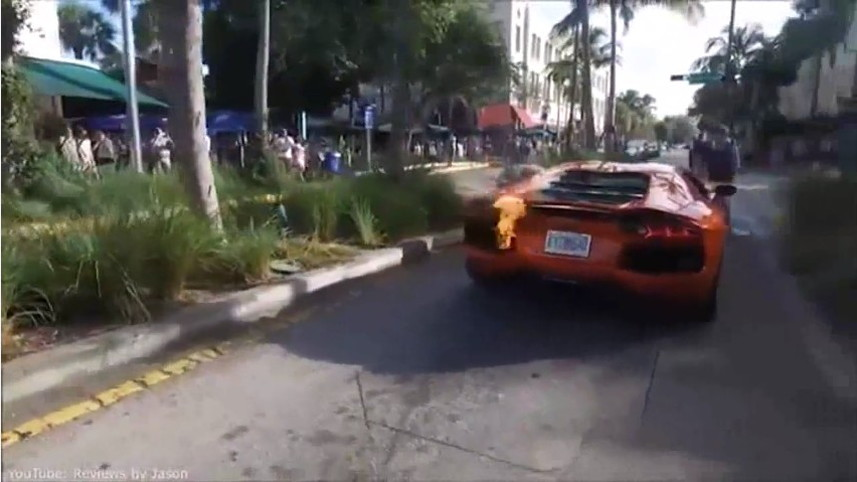 Lamborghini Avenatdor Catches Fire During Valet Joyride