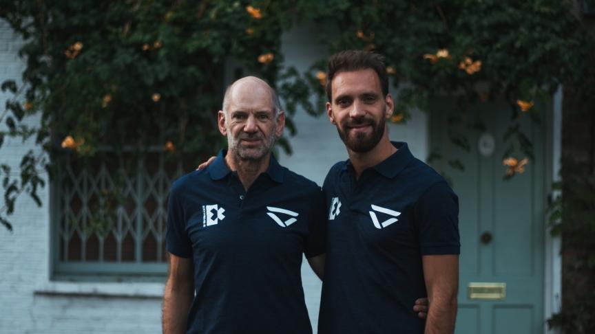 Veloce Racing's Adrian Newey and Jean-Eric Vergne
