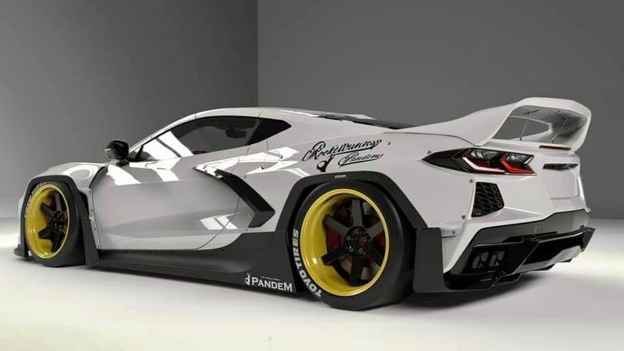 Pandem wide-body kit for Chevrolet Corvette C8