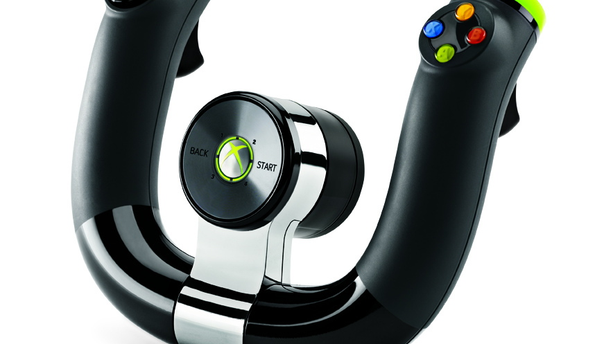 Microsoft XBox 360 wireless steering wheel