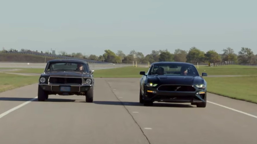 Jay Leno looks at the 1968 and 2019 Ford Mustang Bullitt