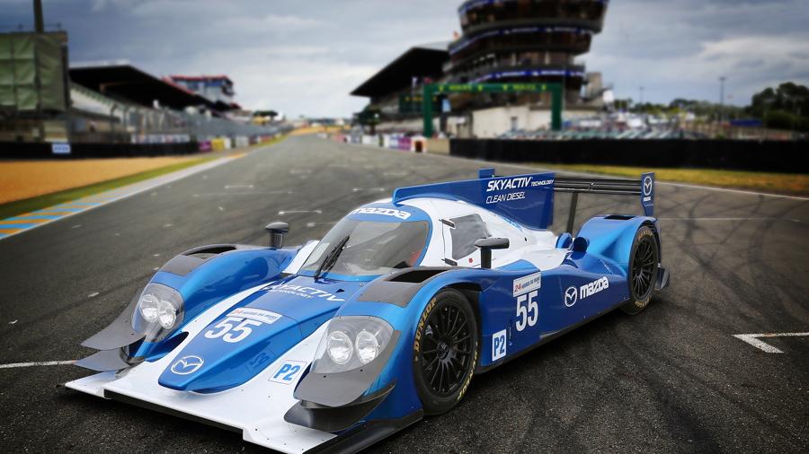 Mazda/Lola LMP2 car at Le Mans - Courtesy Mazda