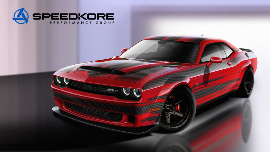 SpeedKore carbon-fiber body parts for 2018 Dodge Challenger Demon