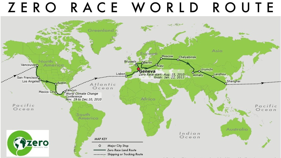Zero Race world route
