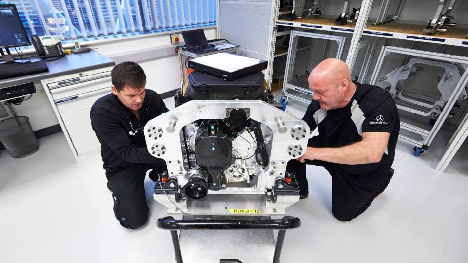 Mercedes-AMG's Final F1 V-8 Leaves The Factory