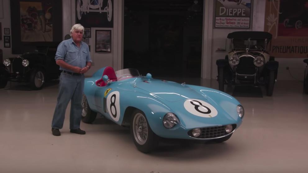 Jay Leno drives a 1955 Ferrari 500 Mondial Series II
