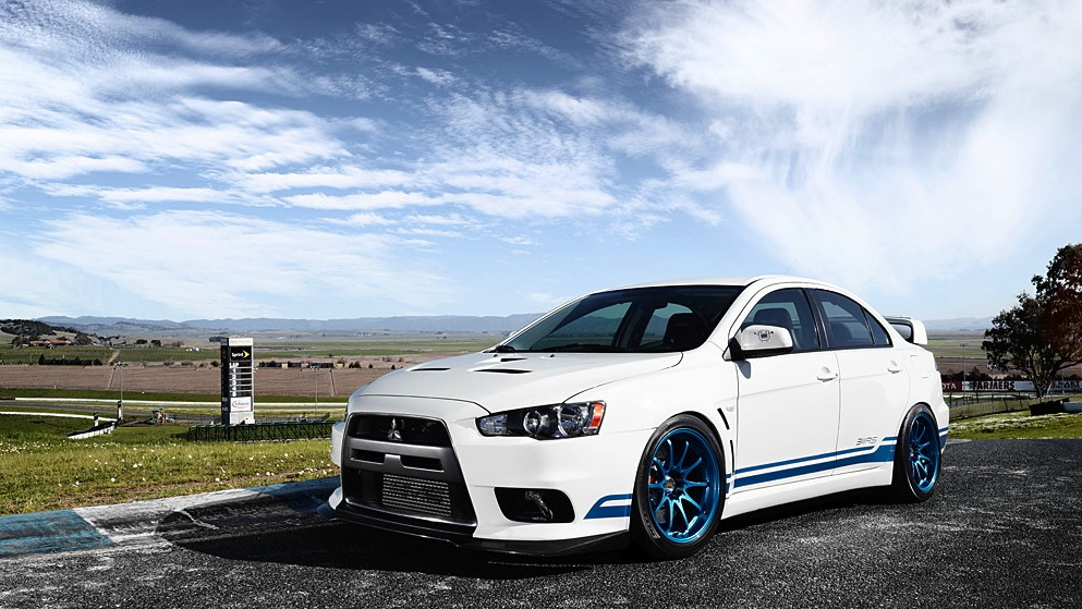 The 311RS Mitsubishi Evo X - image: Nate Hassler for 311RS
