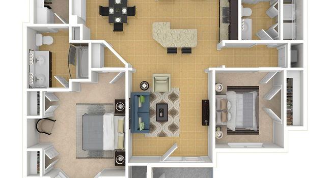 2 Bedroom / 2 Bath / 1142 Sq.Ft.