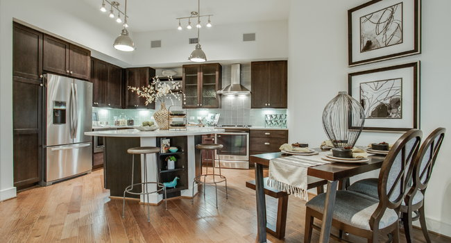 Gables McKinney Ave Model Kitchen and Dining