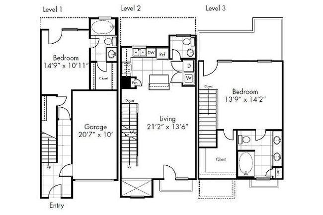 Dallas Older Rear Garage House Plan on